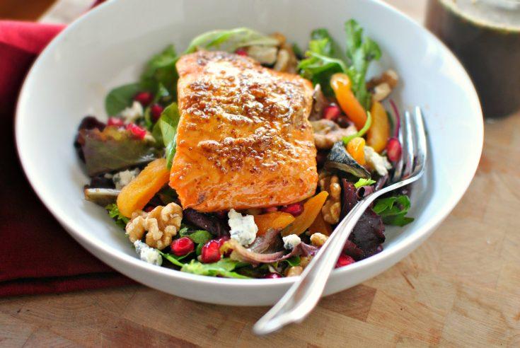 Glazed Salmon Winter Salad