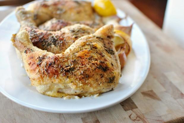 Lemon + Herbes de Provence Baked Chicken l www.SimplyScratch.com