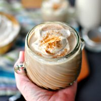 Mexican Spiced Hot Cocoa + Homemade Cinnamon Whipped Cream