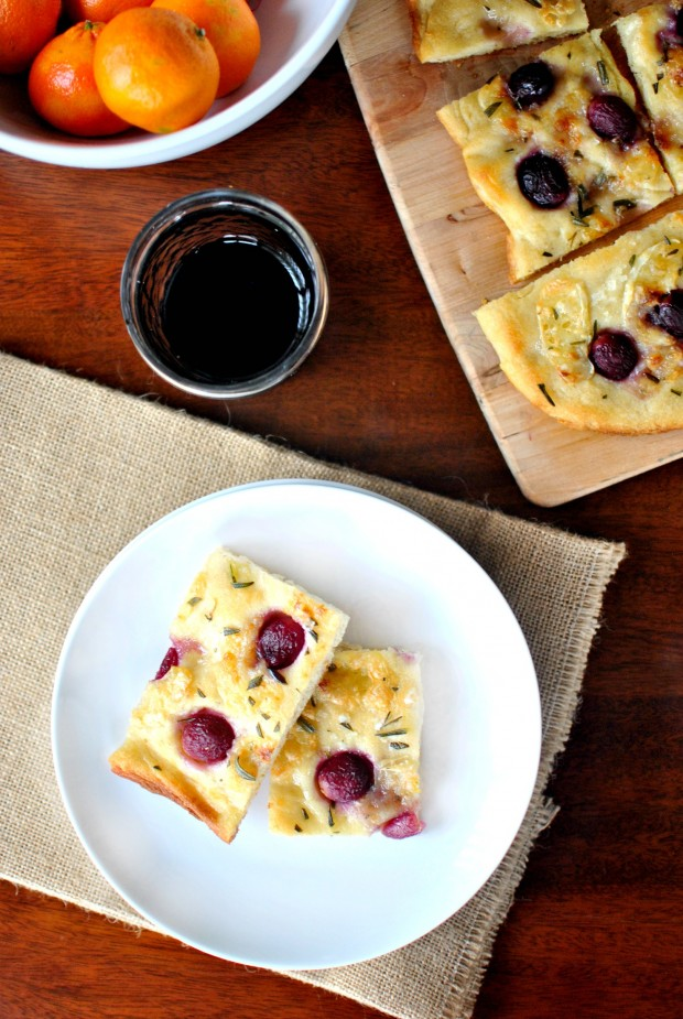Roasted Red Grape, Brie and Rosemary Flatbread  SimplyScratch.com