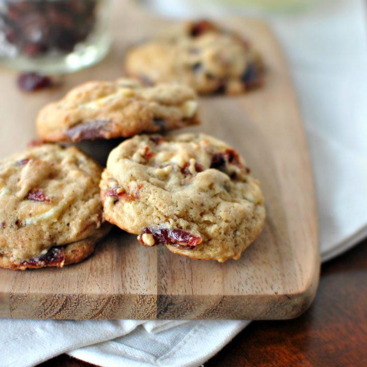 Rum Cherry Double Chocolate Chunk Cookies