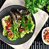 Spicy Sriracha Steak Lettuce Wraps