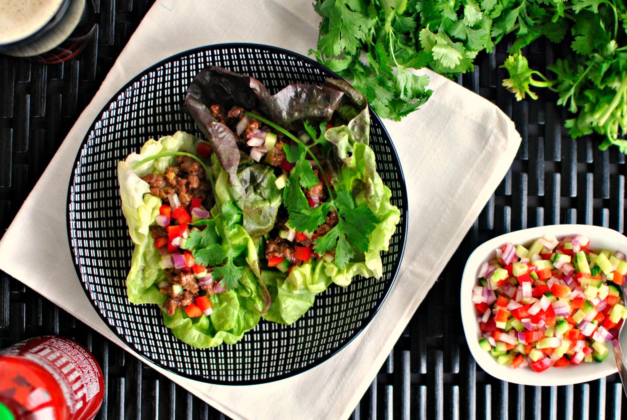 Quick Sriracha Beef Lettuce Wraps Recipes — Dishmaps