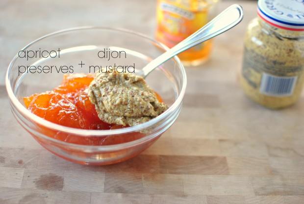 apricot preserves + dijon
