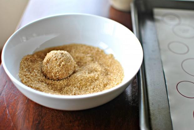 roll in turbinado sugar