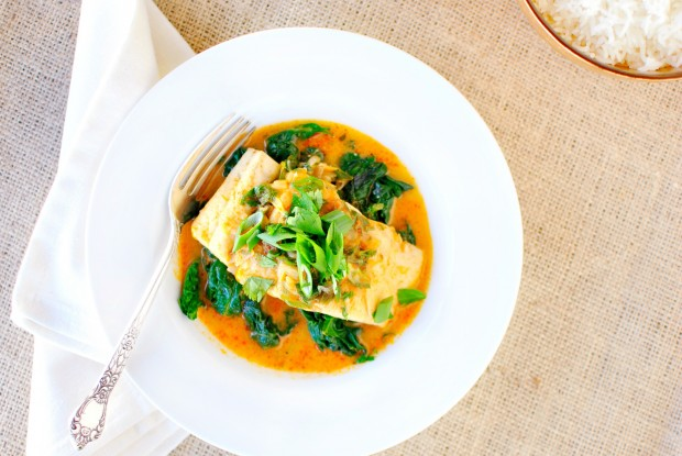 Thai Coconut Curry Poached Barramundi l SimplyScratch.com