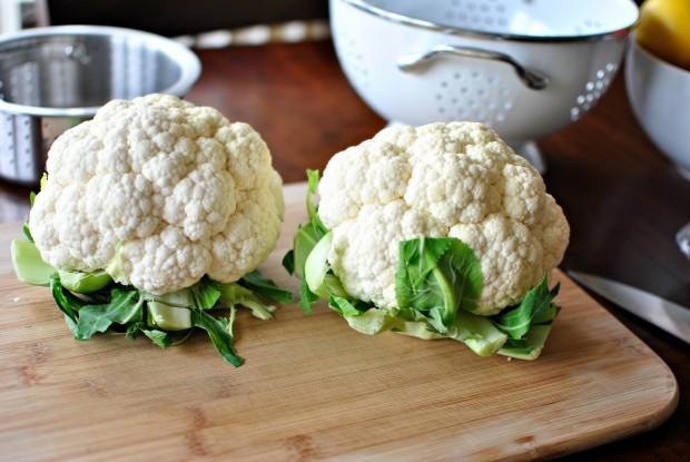 Creamy Whipped Cauliflower Mash two cauli's