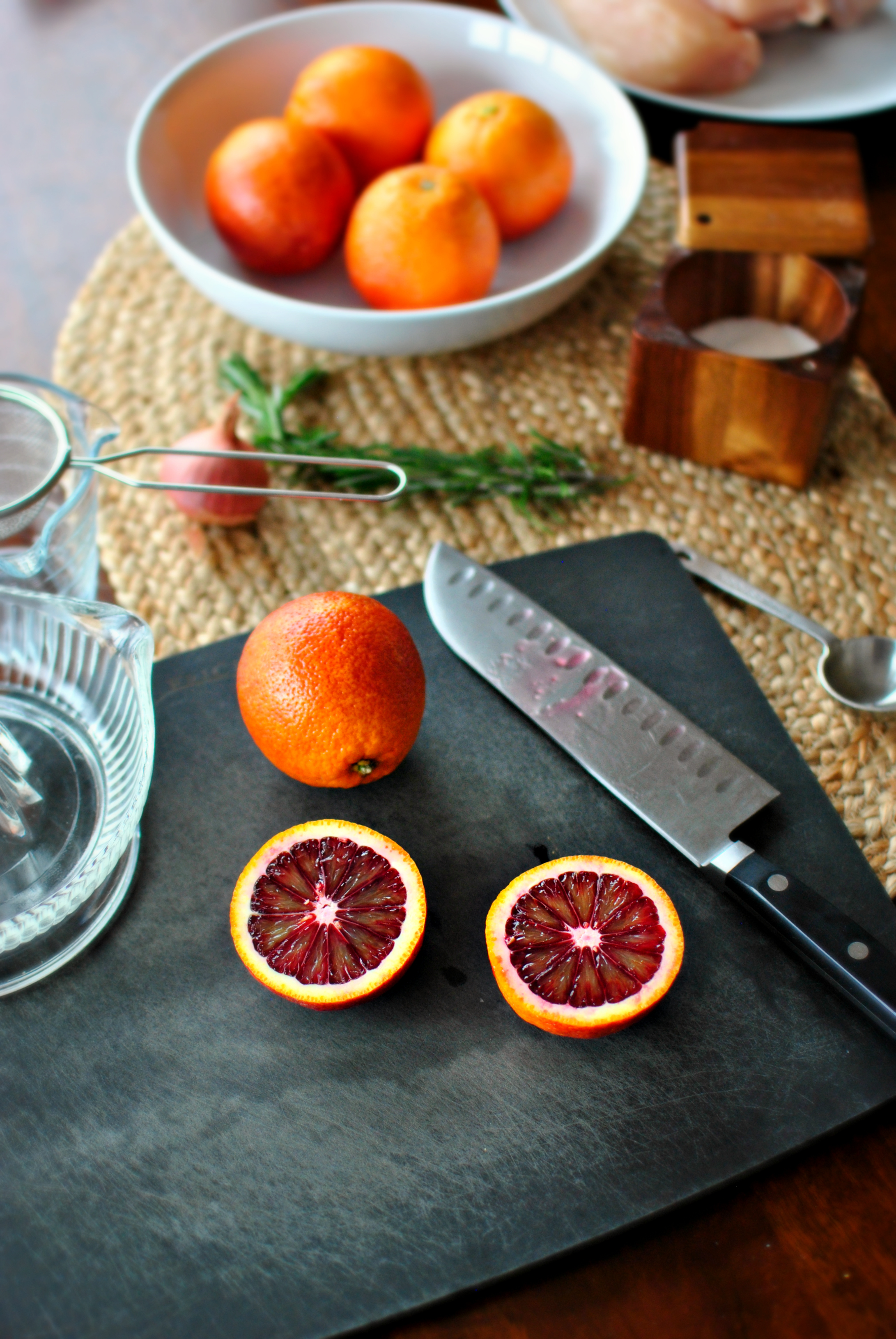Blood Oranges in Simple Syrup with Walnuts