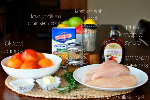 Maple and Blood Orange Spiced Chicken l www.SimplyScratch.com ingredients