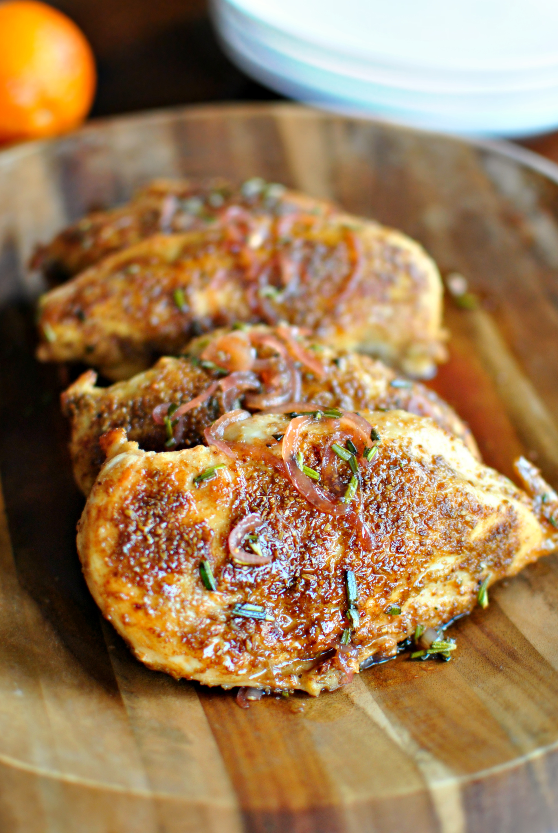Simply Scratch » Spice Crusted Chicken + Blood Orange Maple Glaze