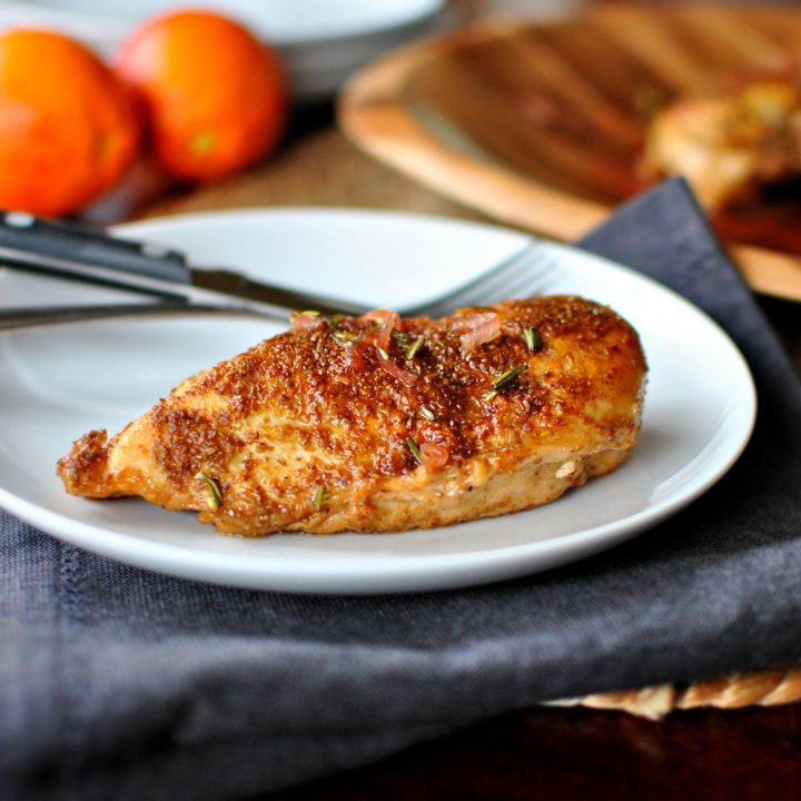 Spice Crusted Chicken + Blood Orange Maple Glaze