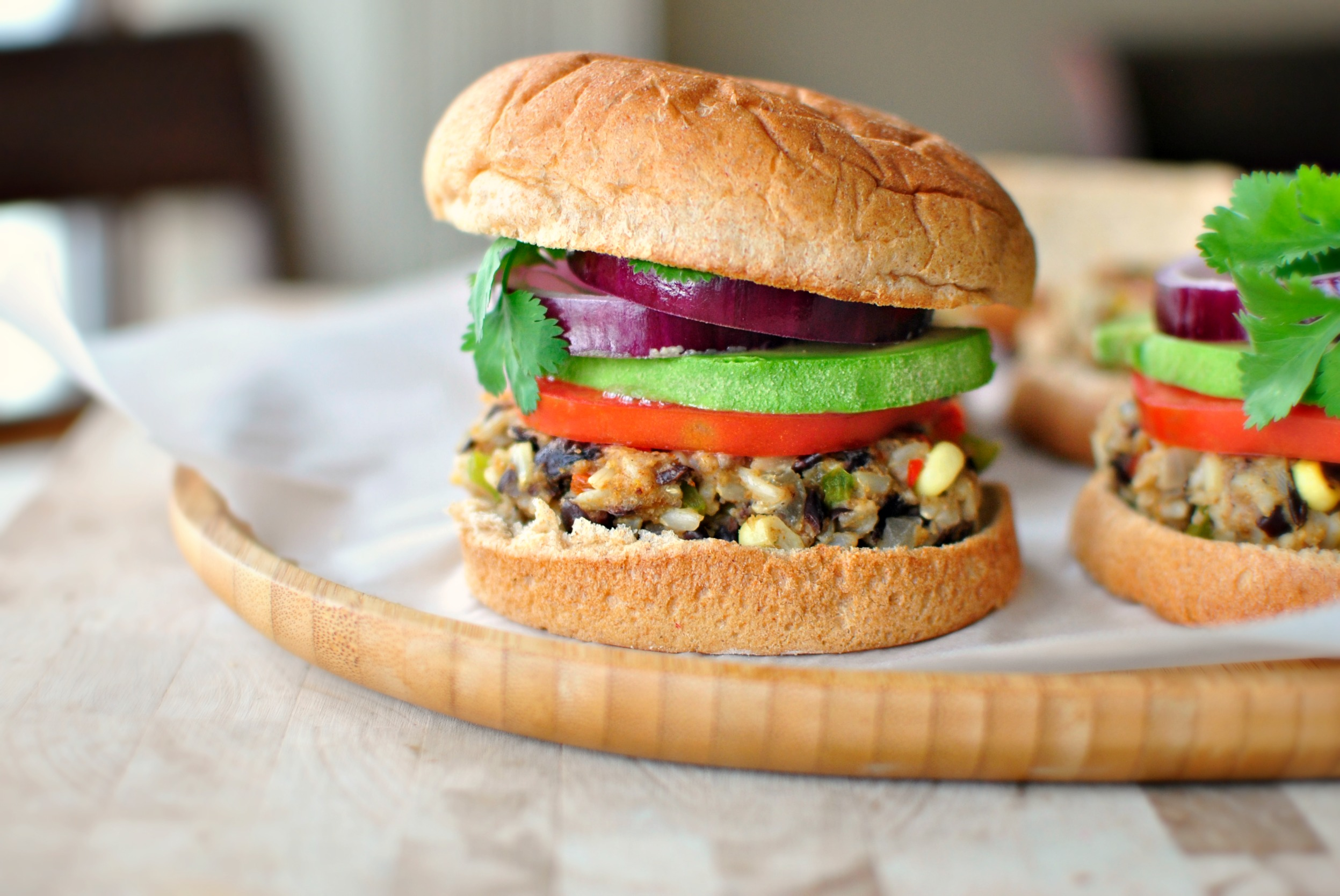 Southwest Black Bean And Rice Veggie Burger Simply Scratch