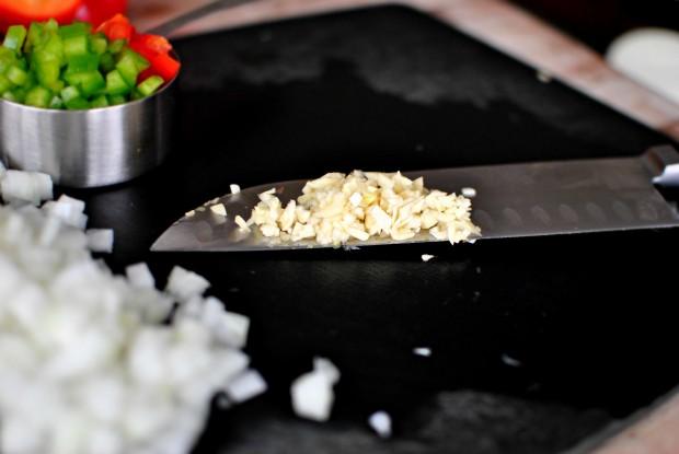 Southwest Black Bean Veggie Burgers www.SimplyScratch.com minced garlic