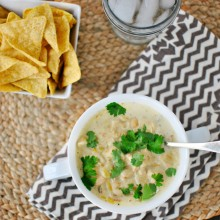 White Chicken Chili l www.SimplyScratch.com