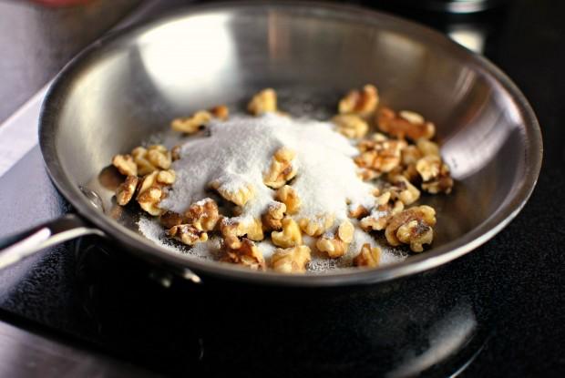walnuts and sugar