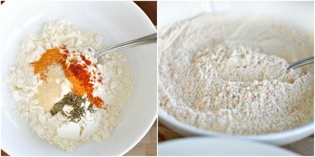 Baked Onion Petals l www.SimplyScratch.com season flour