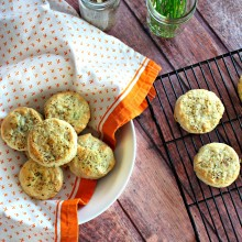 Black Pepper and Chive Buttermilk Biscuits  www.SimplyScratch.com #baked #biscuits