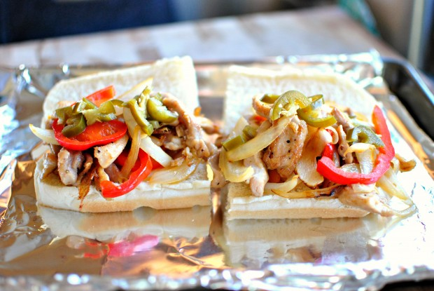 Chicken Cheesesteak Sandwiches l www.SimplyScratch.com jalapenos
