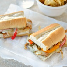 Chicken Cheesesteak Sandwiches l www.SimplyScratch.com #sandwich