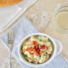 Creamy Pancetta + Leek Macaroni and Cheese  www.SimplyScratch.com #pasta #cheese
