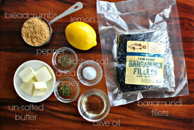 Crispy-Skinned Barramundi with Lemon + Brown Butter Breadcrumbs l www.SimplyScratch.com ingredients