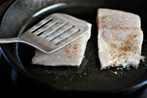 Crispy-Skinned Barramundi with Lemon + Brown Butter Breadcrumbs l www.SimplyScratch.com press