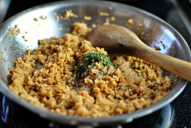 Crispy-Skinned Barramundi with Lemon + Brown Butter Breadcrumbs l www.SimplyScratch.com season