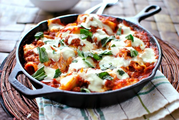 Easy Skillet Lasagna www.SimplyScratch.com