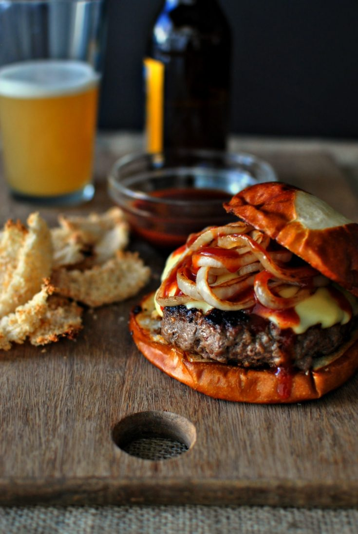 Griddled Steak Burgers with Jarlsberg + Onions