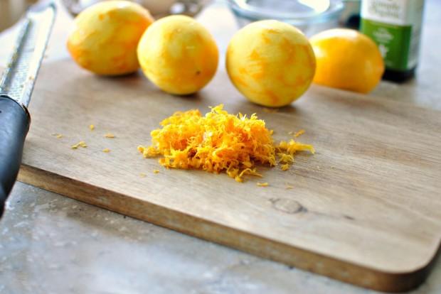 Meyer Lemon + Ricotta Cake www.SimplyScratch.com zest