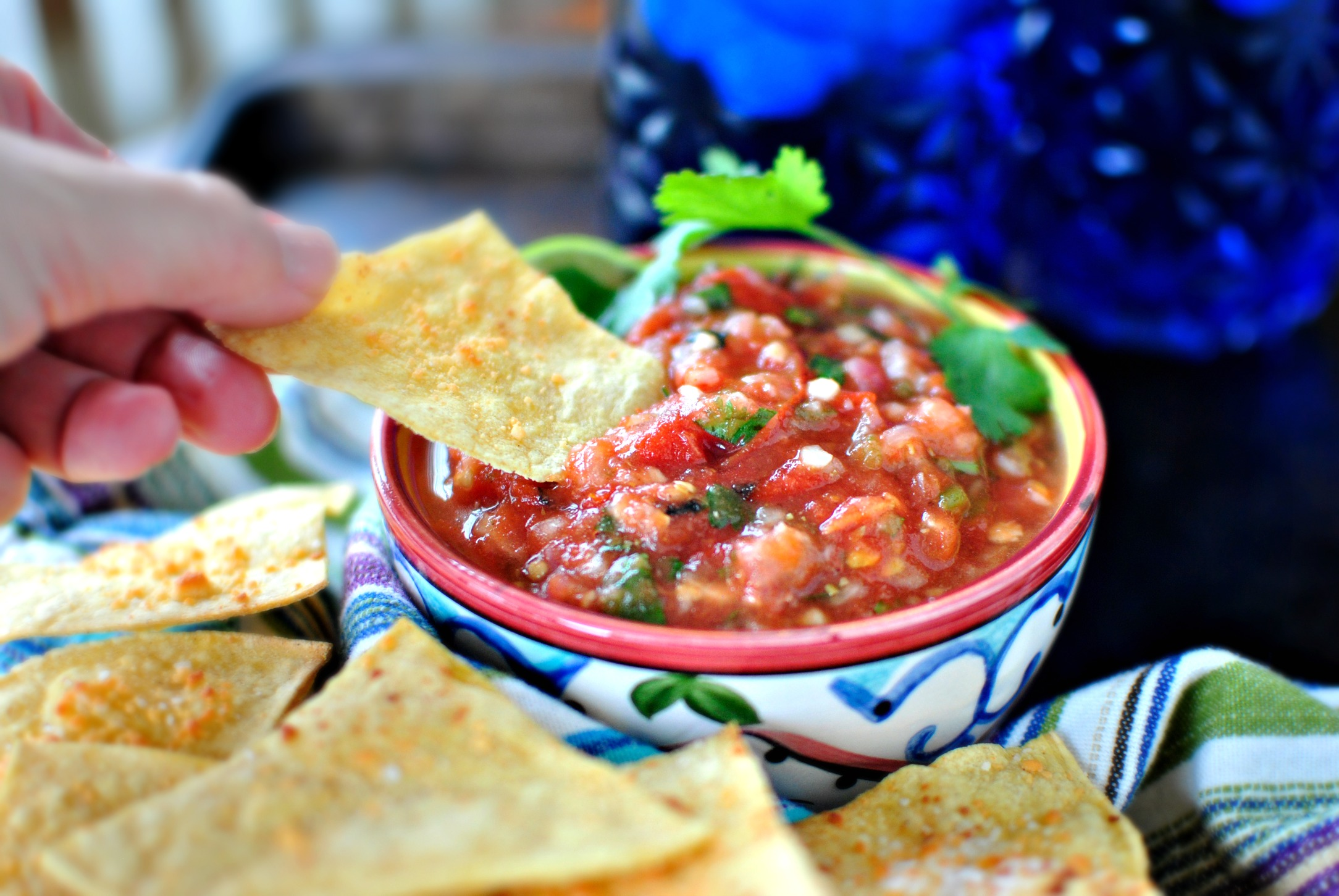 Simply Scratch Roasted Tomato Salsa Baked Tortilla Chips
