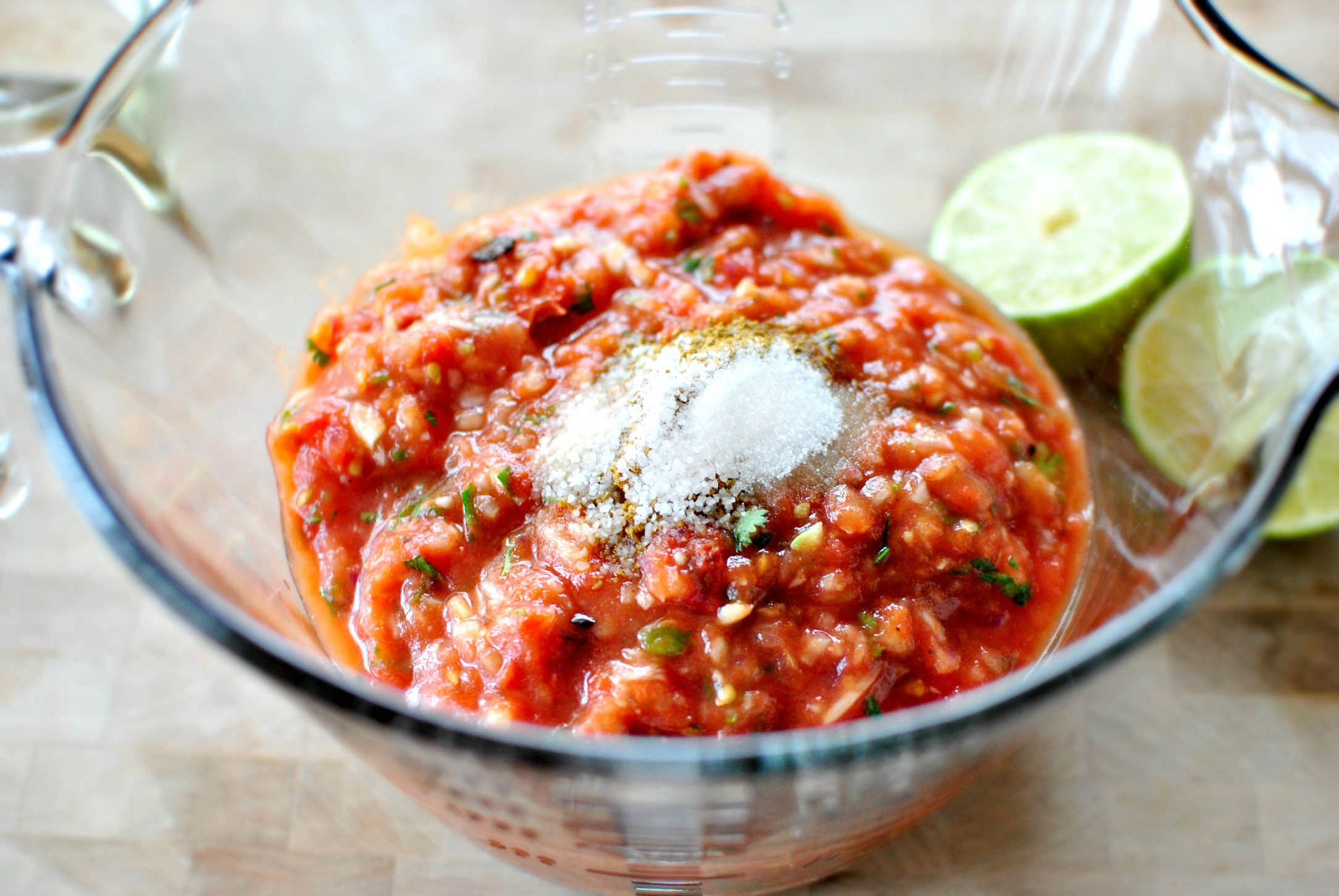Simply Scratch Roasted Tomato Salsa + Baked Tortilla Chips ...