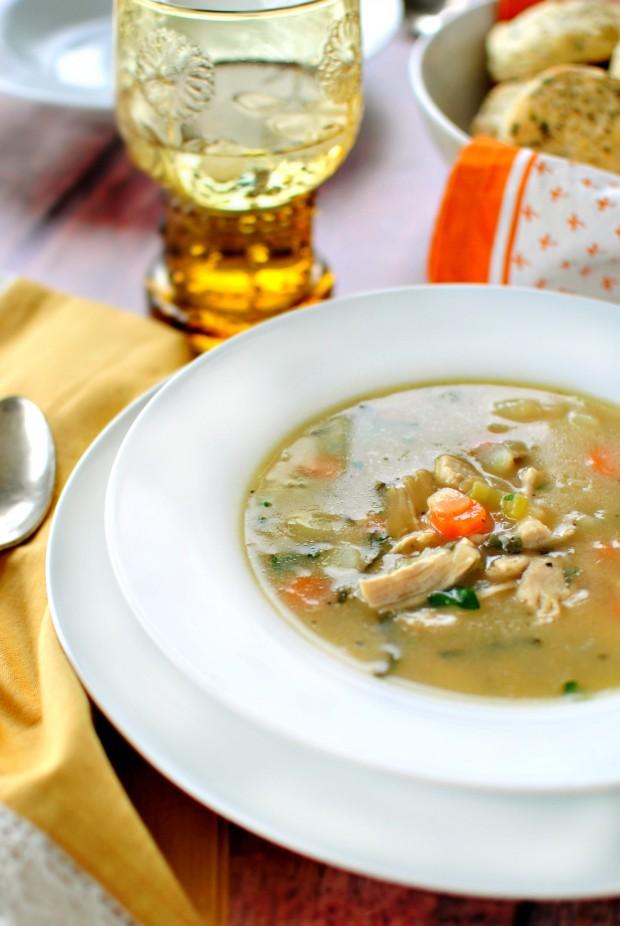 Simply Scratch Homemade Turkey Pot Pie Soup - Simply Scratch