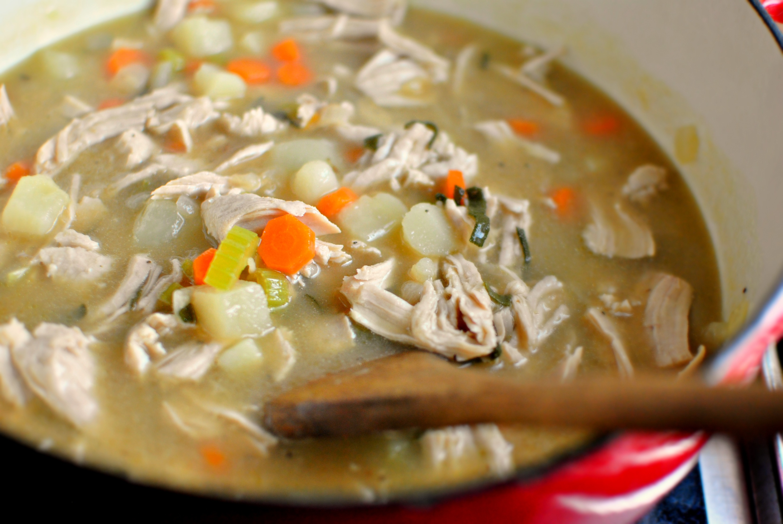 Simply Scratch Homemade Turkey Pot Pie Soup - Simply Scratch