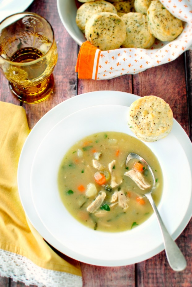 Turkey Pot Pie Soup - www.SimplyScratch.com #soup
