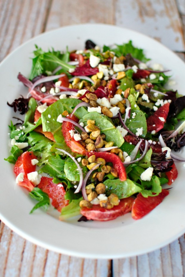 Blood Orange Salad + Ginger and Cayenne Blood Orange Vinaigrette ...