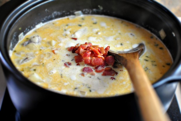 Fish Chowder www.SimplyScratch.com bacon in