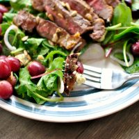 Grilled Steak Salad with Blue Cheese + Grilled Grapes