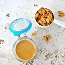 Honey Roasted Peanut Butter l www.SimplyScratch.com #peanutbutter #creamy