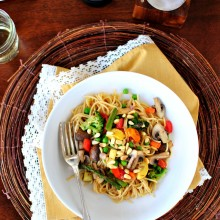 Roasted Vegetable Pasta Primavera  www.SimplyScratch.com