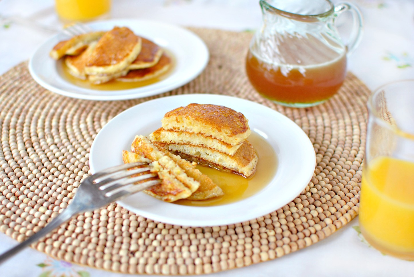 Cornmeal Pancakes With Orange Maple Butter Recipes — Dishmaps