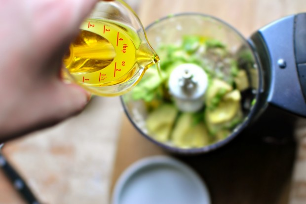 creamy avocado salad dressing l simplyscratch.com olive oil