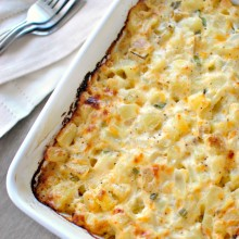 Homemade Cheesy Potatoes l www.SimplyScratch.com #homemade