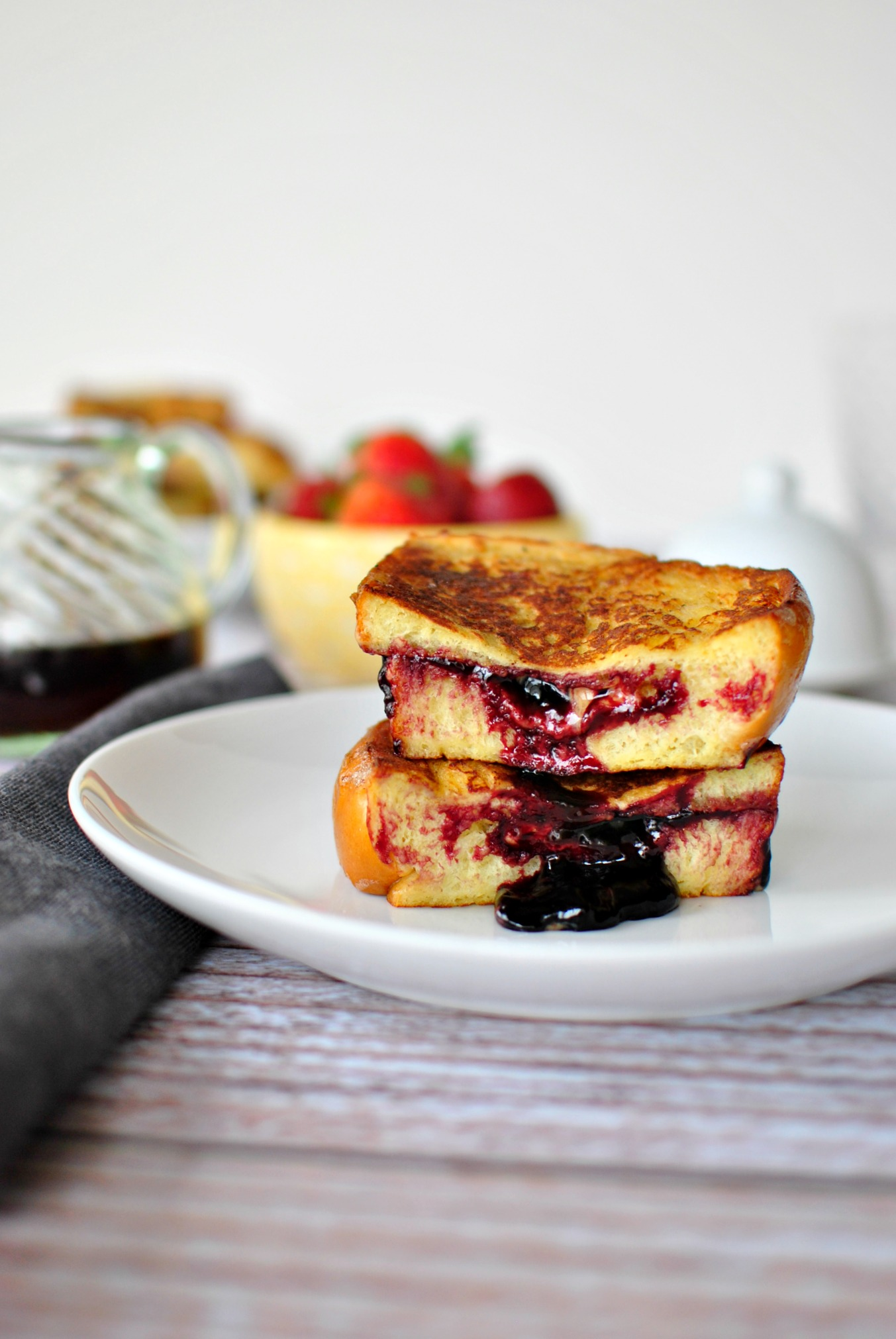 Simply Scratch Peanut Butter and Jelly Stuffed French Toast - Simply ...