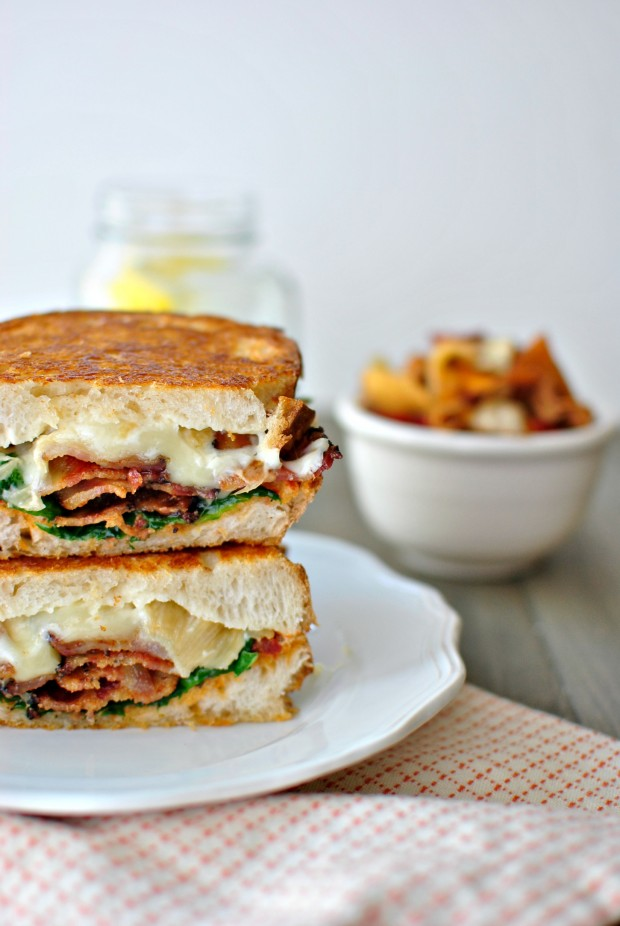 Fancy BLT Grilled Cheese Sandwiches l www.SimplyScratch.com