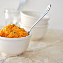 Sweet Potato + Jalapeno Mash l www.SimplyScratch.com #recipe #sweetpotato #jalapeno