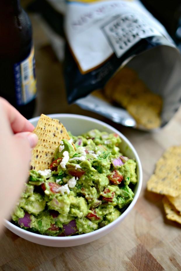 Avocado + Feta Guacamole l www.SimplyScratch.com #avocado