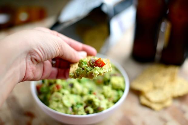 Avocado + Feta Guacamole ll www.SimplyScratch.com