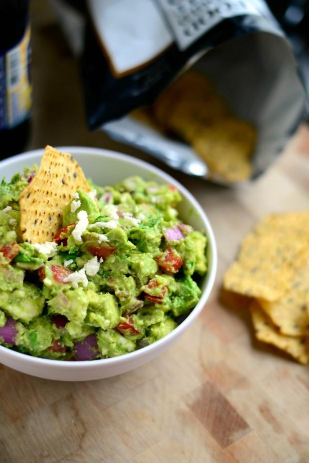 Avocado + Feta Guacamole via + www.SimplyScratch.com