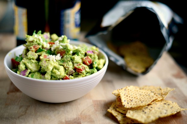 Avocado + Feta Guacamole www.SimplyScratch.com #recipe